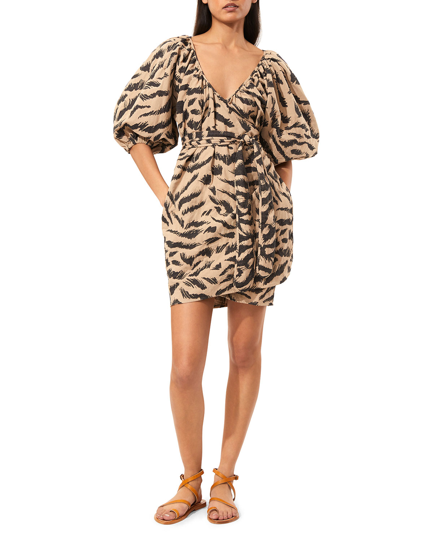 Mara Hoffman Cottons COLETTA MINI COVERUP WRAP DRESS
