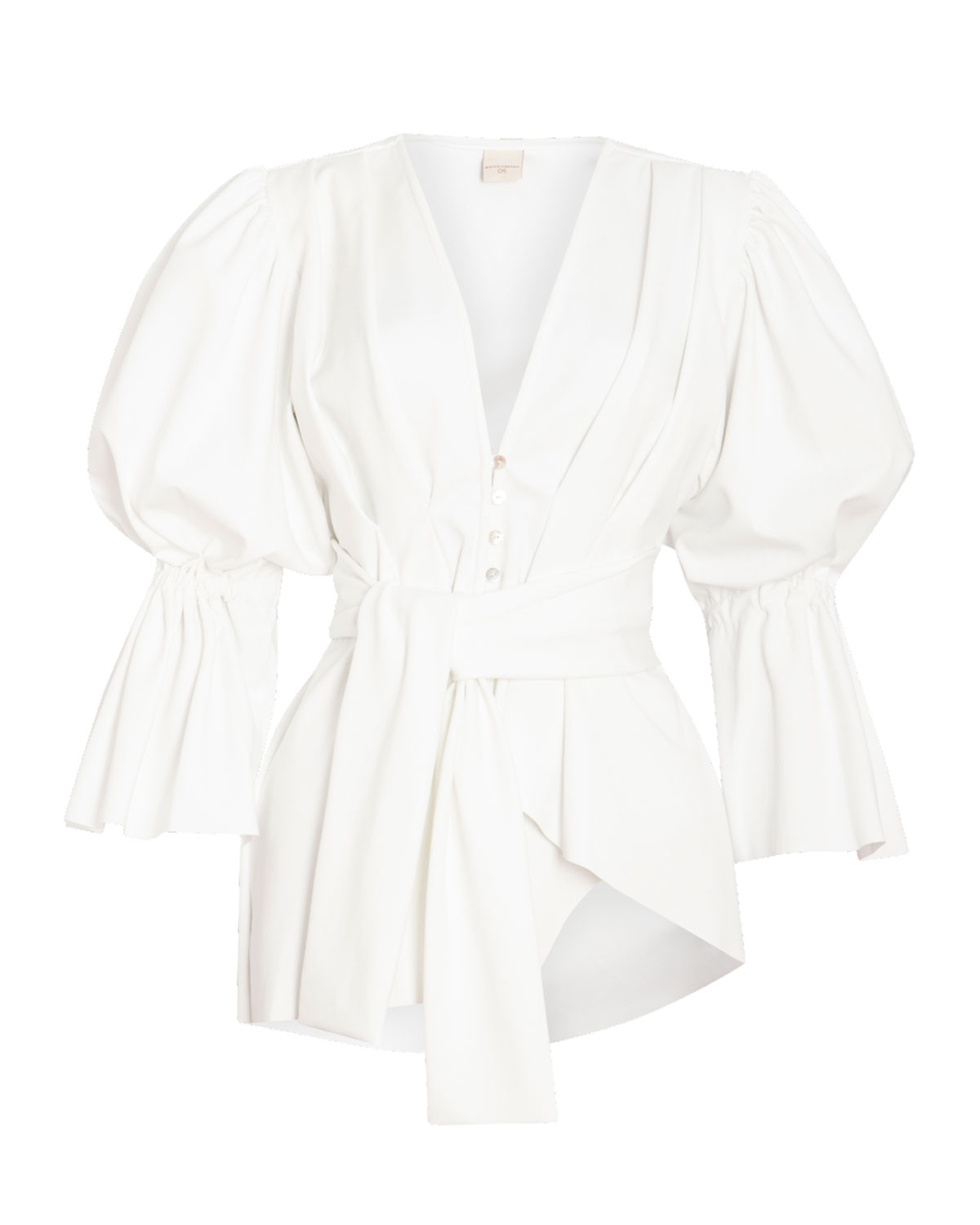 Colon Statement-Sleeve Two-Piece Swimsuit