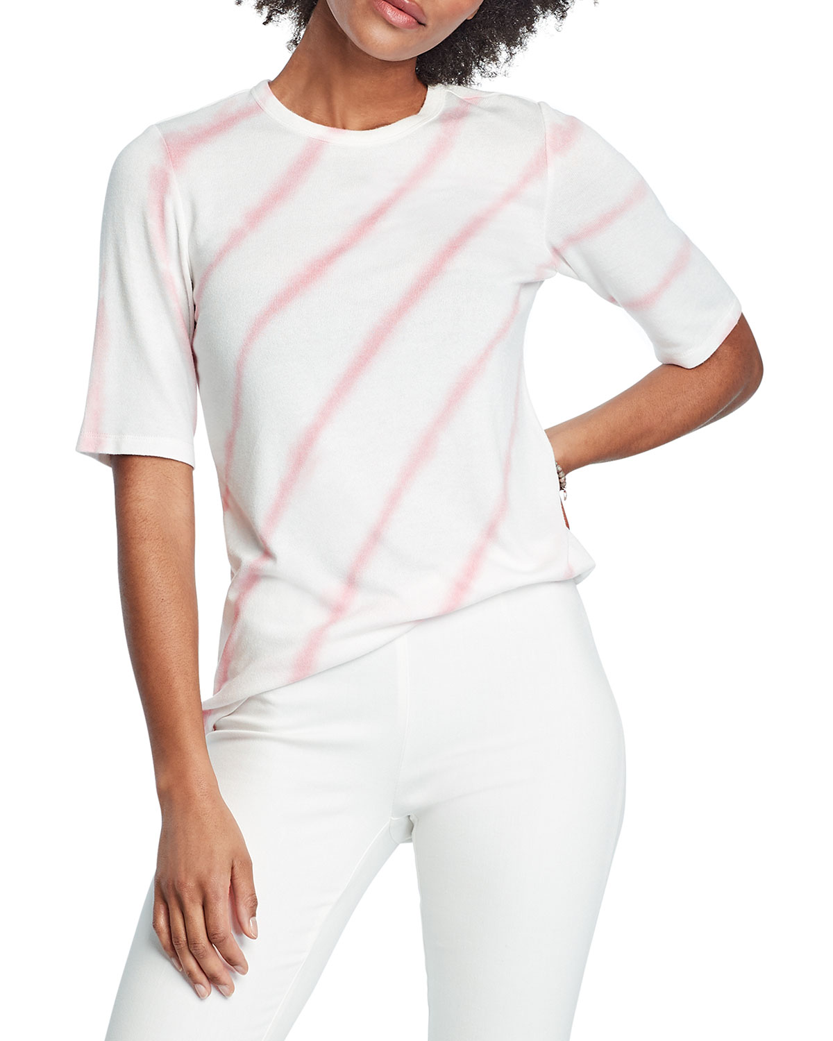 Nic + Zoe STRIPED GROOVE TEE