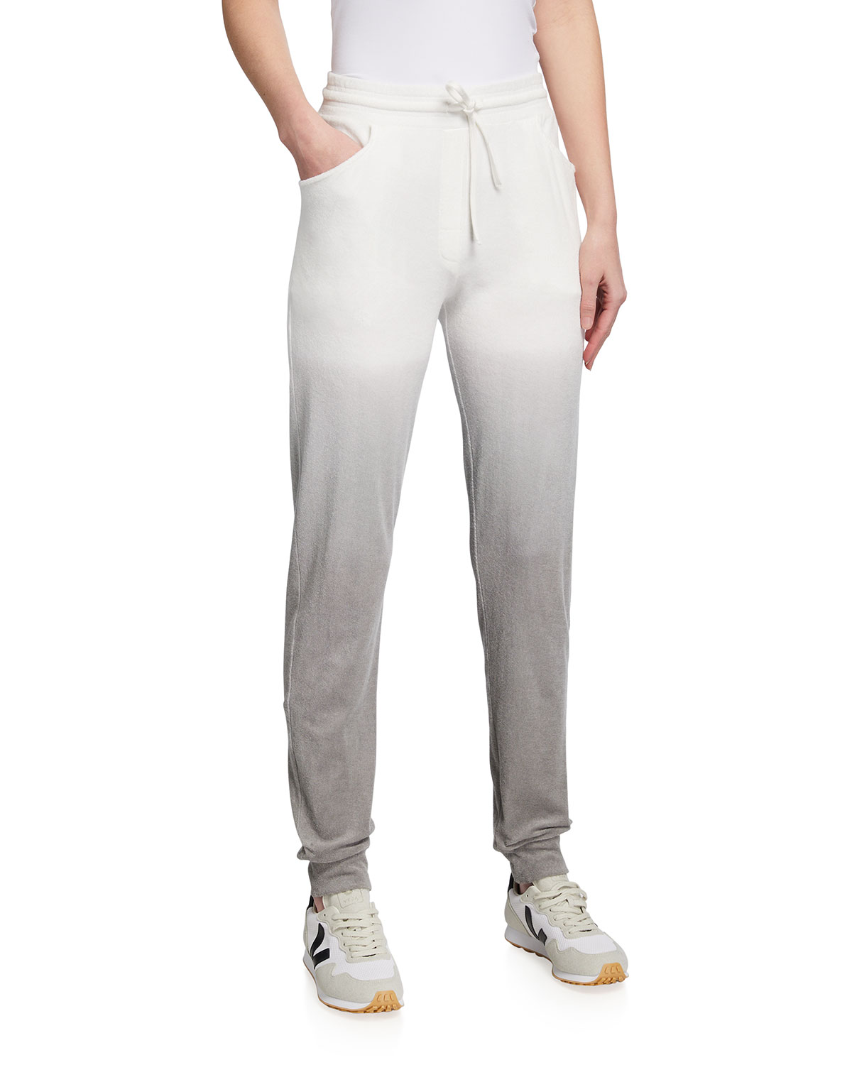 Ombre Cotton Terry Drawstring Pants