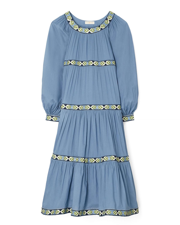 Tory Burch Midi dresses PUFFED-SLEEVE TIERED MIDI DRESS