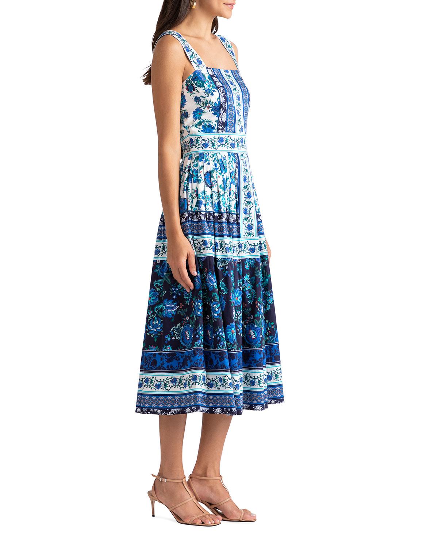 Shoshanna Mini dresses ALMMA FLORAL VINE-PRINT MIDI DRESS