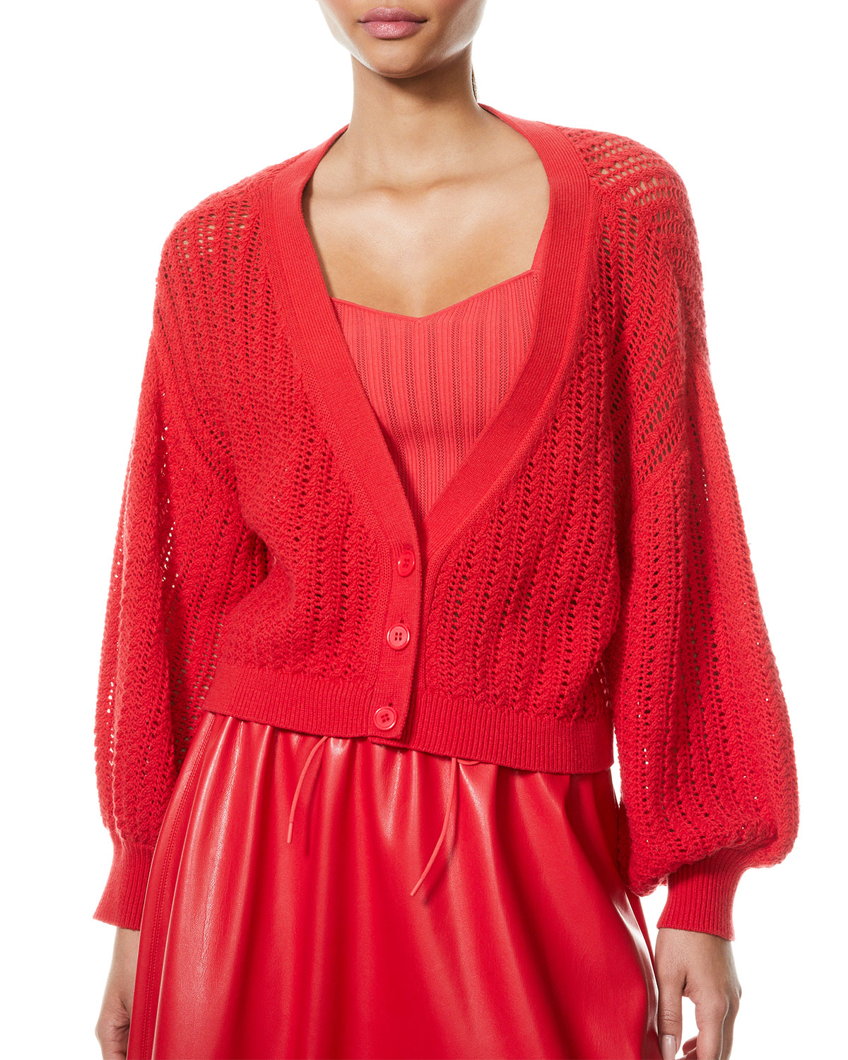 Alice And Olivia Cardigans WINDSOR DEEP-V SLOUCHY CARDIGAN