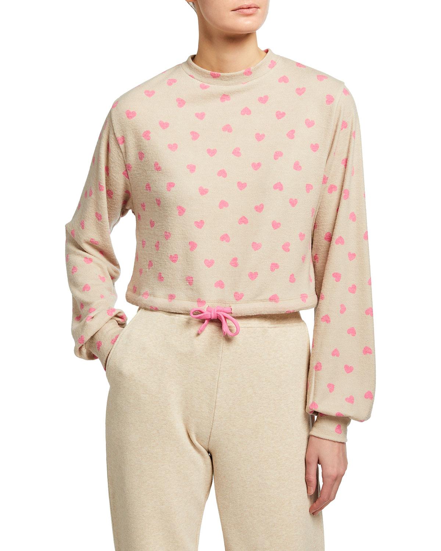 Dylan Heart-Print Sweatshirt