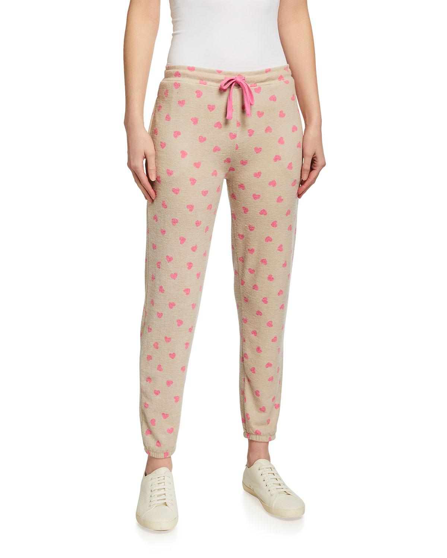 Savannah Heart-Print Sweatpants