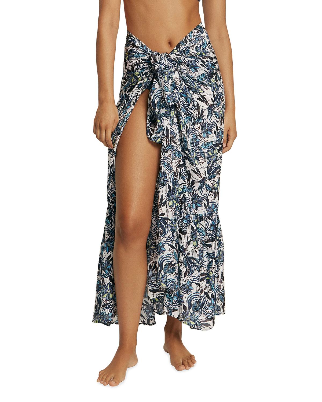 Isola Bella Ruffle Coverup Wrap Skirt