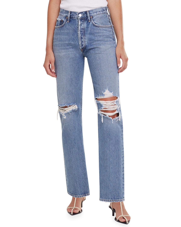 Agolde Clothing LANA MID-RISE STRAIGHT-LEG JEANS