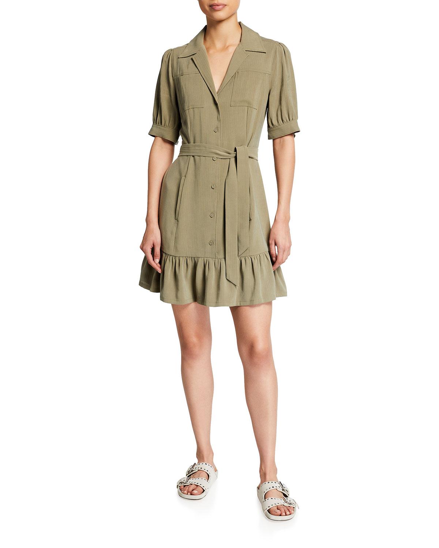 Paige Dresses MAYSLIE SHORT-SLEEVE UTILITY DRESS