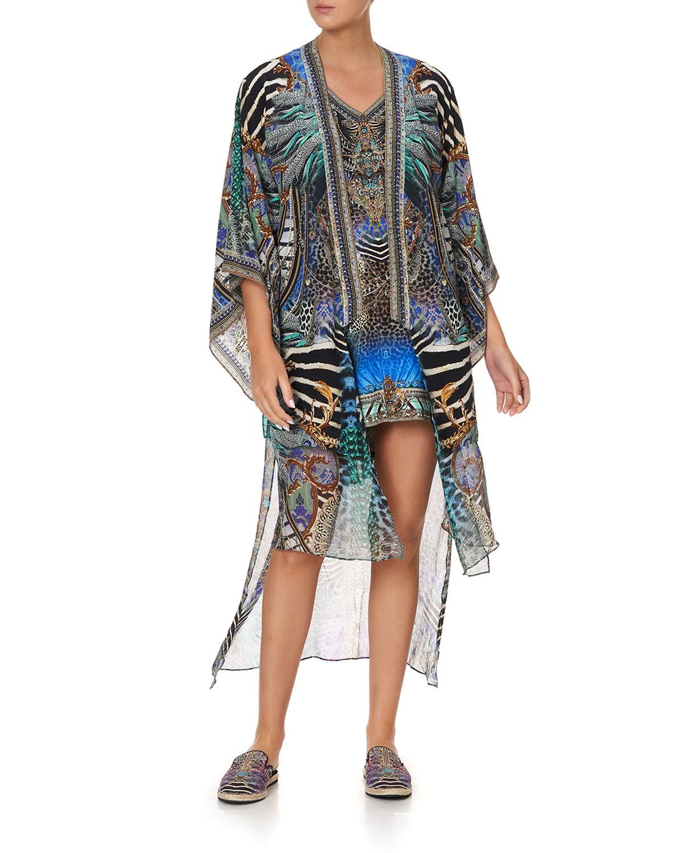 Coverup Kimono w/ Long Underlayer