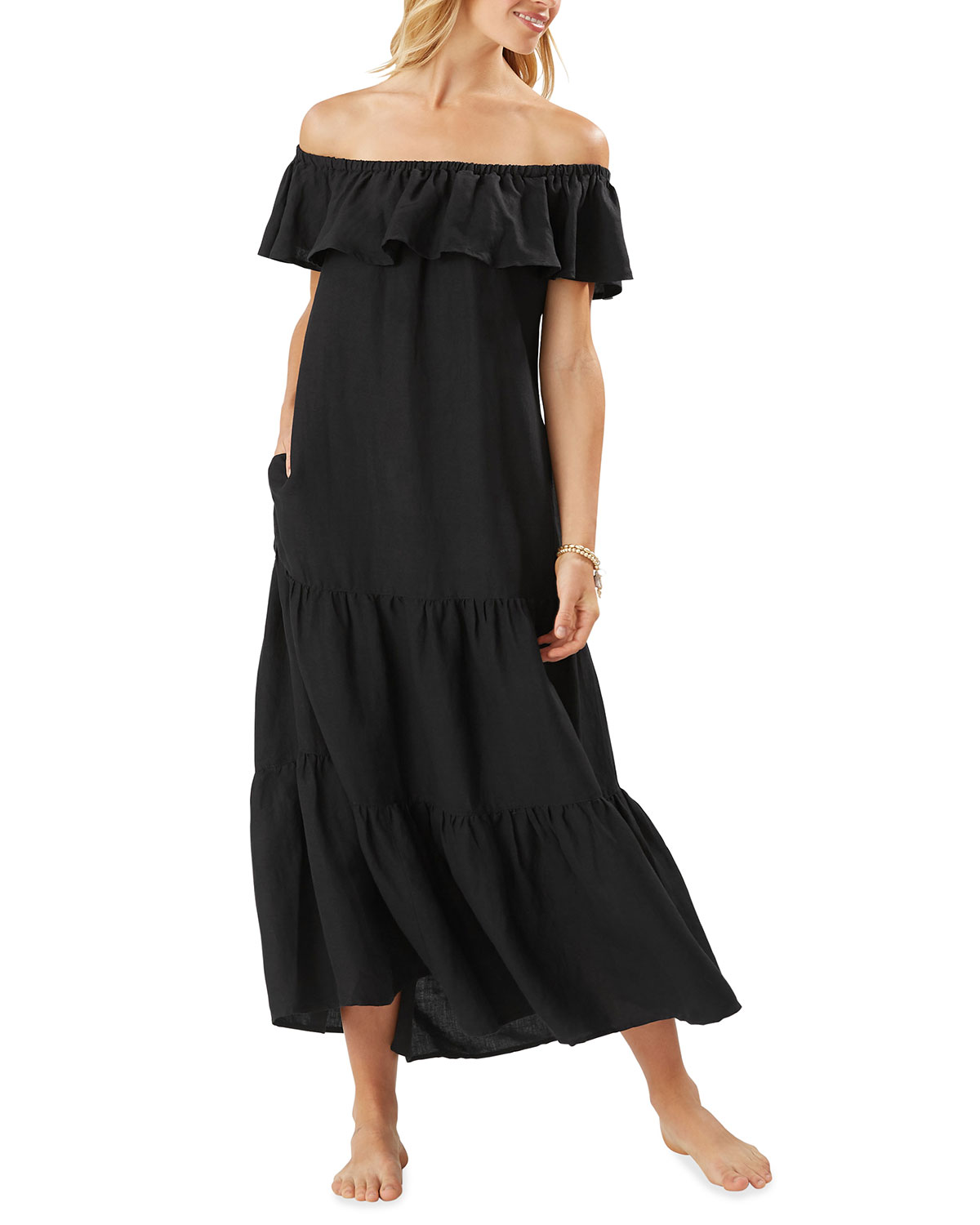 Tommy Bahama ST. LUCIA TIERED MAXI DRESS