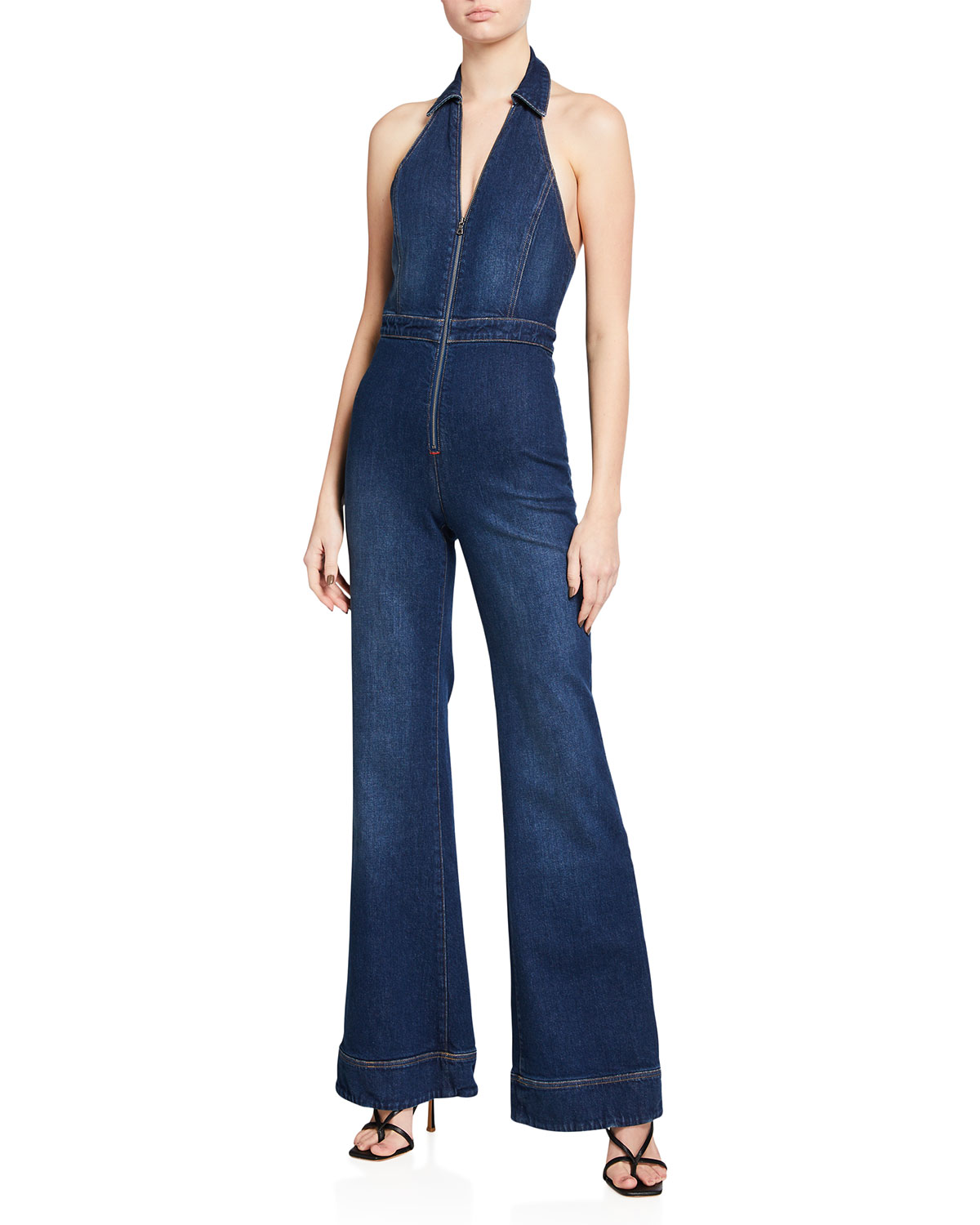 Gorgeous Halter-Neck Fitted Jumpsuit