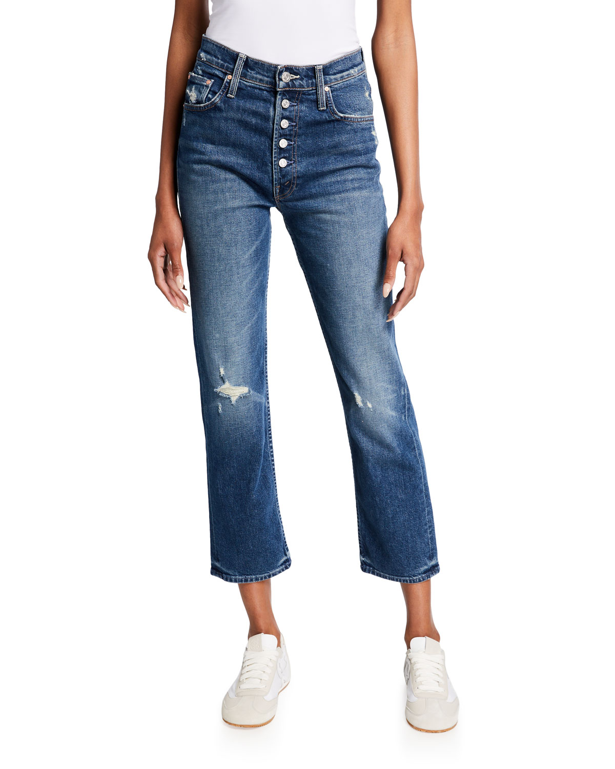 Mother THE PIXIE TOMCAT ANKLE JEANS