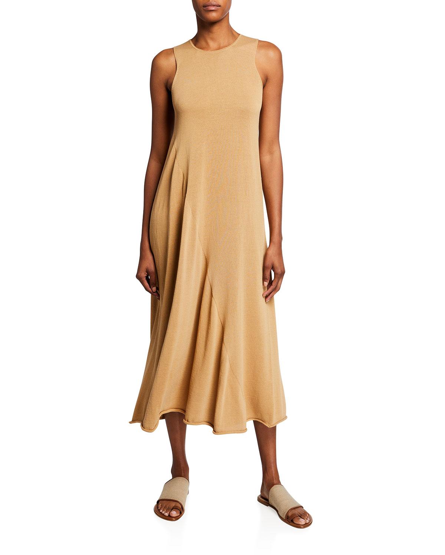 Shirred Tank Midi Dress