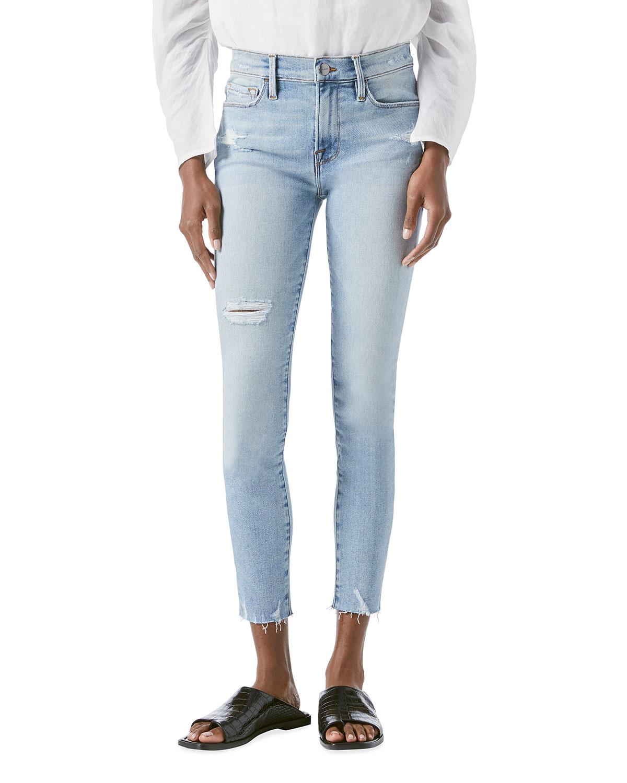 Le Skinny De Jeanne Crop Raw-Edge Jeans