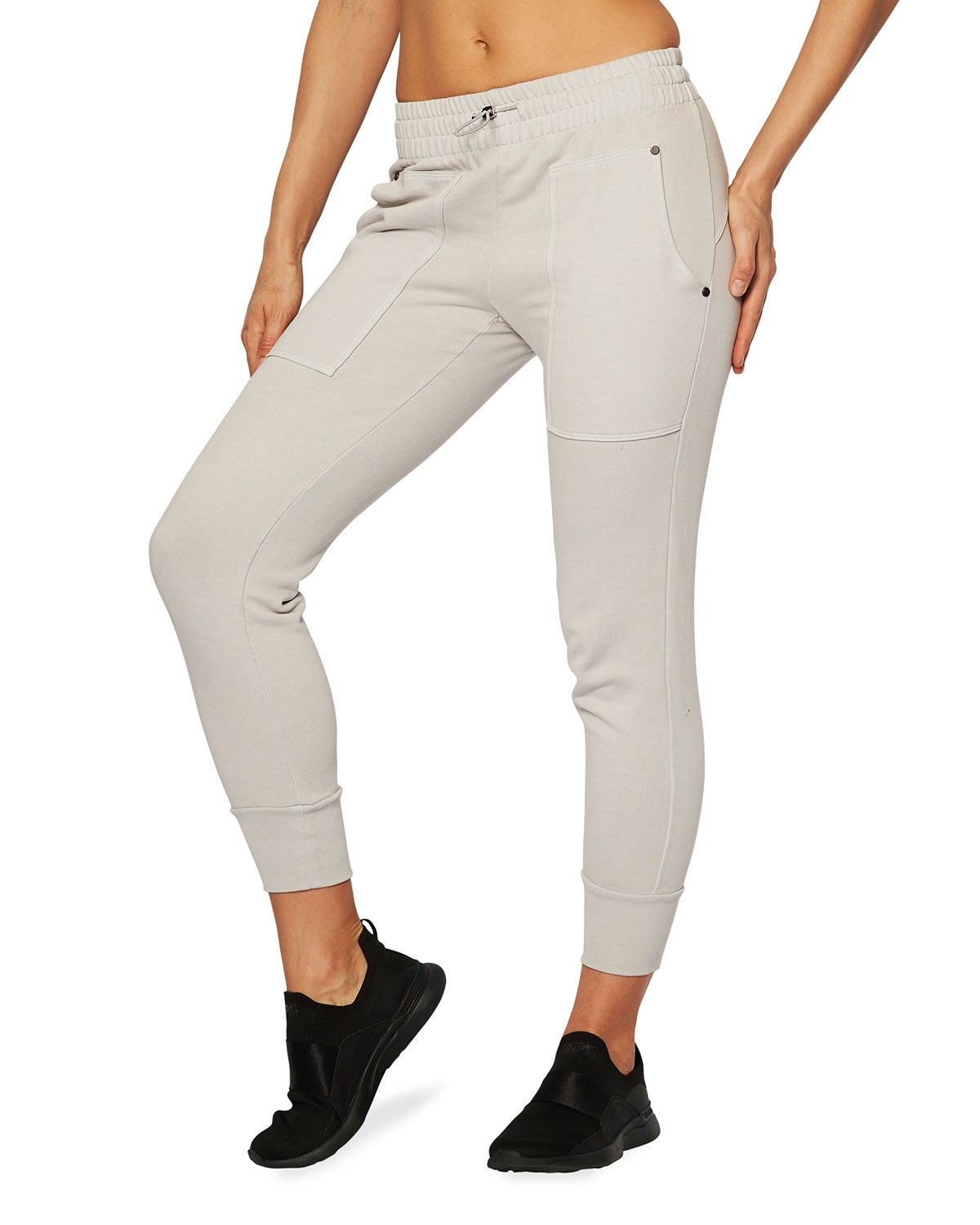 Heroine Sport HENLEY TOGGLE-WAIST TERRY SWEATPANTS