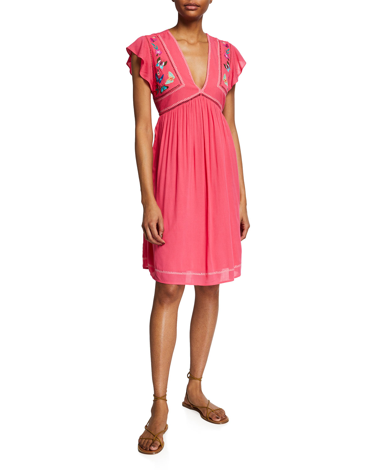 Johnny Was MARIPOSA COVERUP TUNIC W/ EMBROIDERY