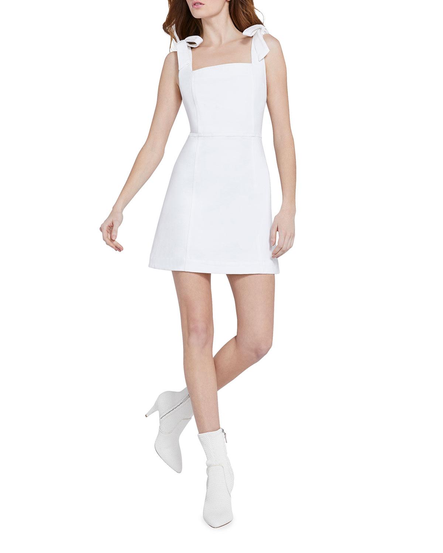 Alice And Olivia MARYANN TIE-SHOULDER DRESS