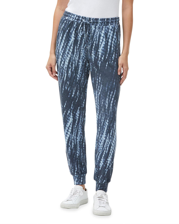 Jenny Abstract-Print Drawstring Pants
