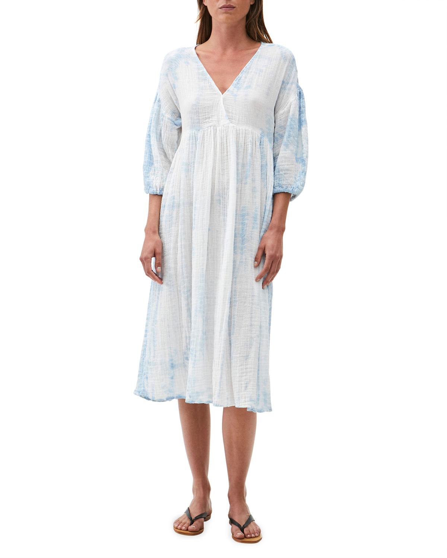 Giedre Empire-Waist Midi Dress