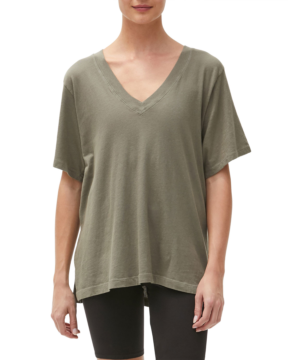 Cyrus V-Neck High-Low Tee