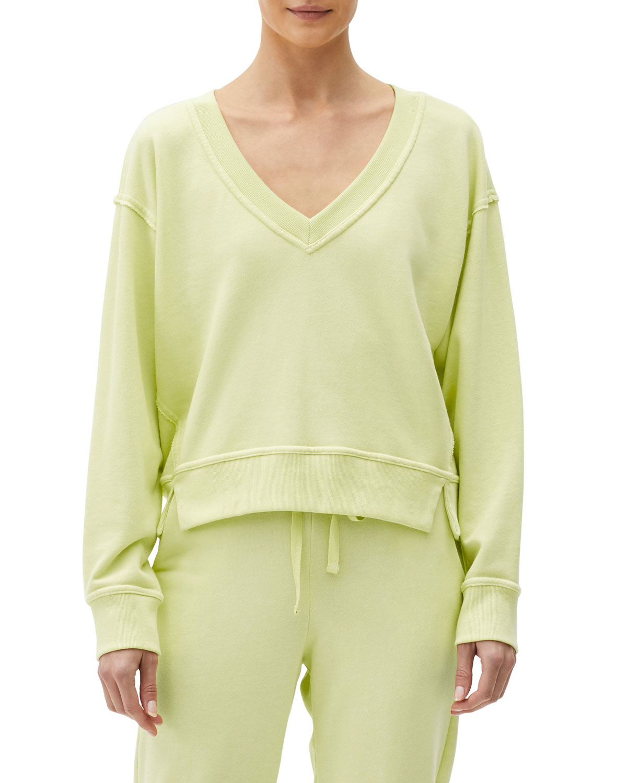 Camila V-Neck Cropped Sweatshirt