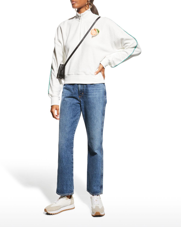 La Pesca Towelling Half-Zip Sweatshirt