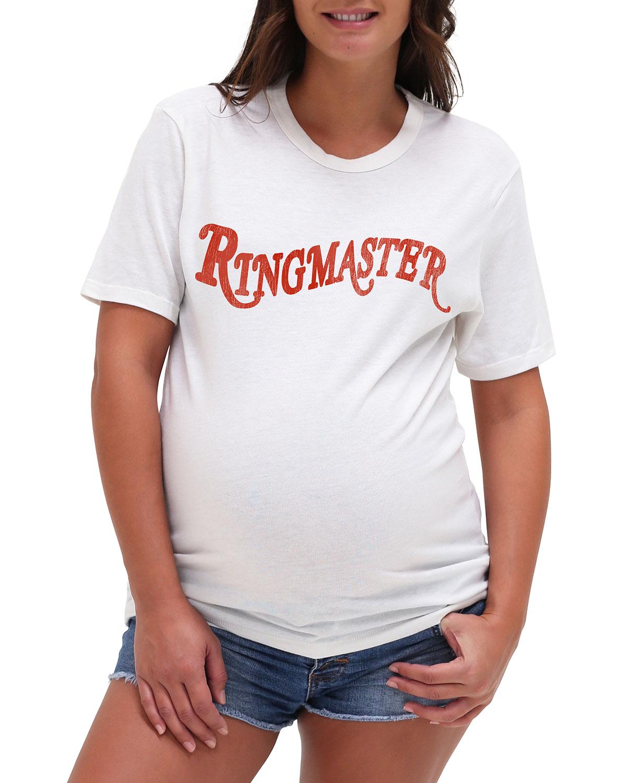 Maternity Ringmaster Typographic Jersey Tee