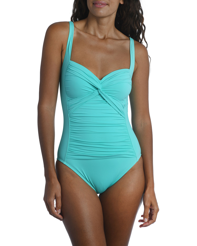 Island Goddess Twist Mio One-Piece Swimsuit