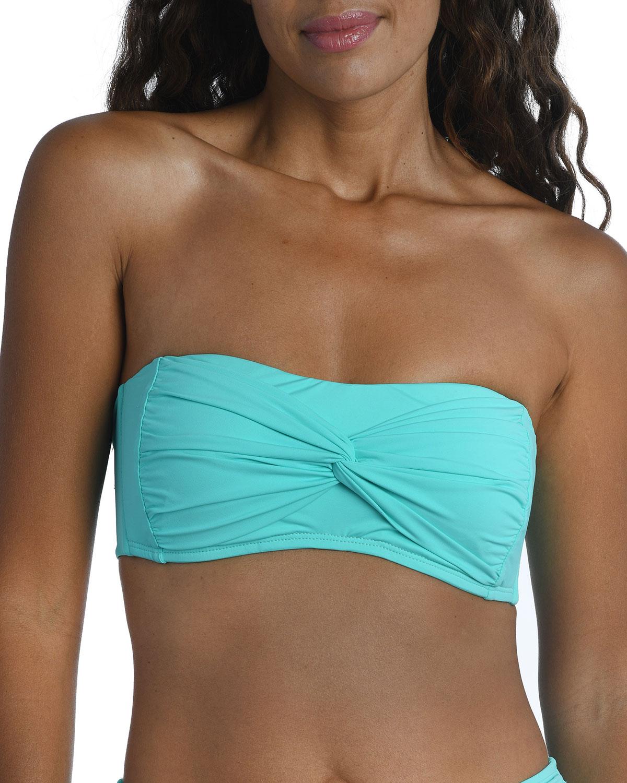 Island Goddess Knot Twist Bandeau Bikini Top