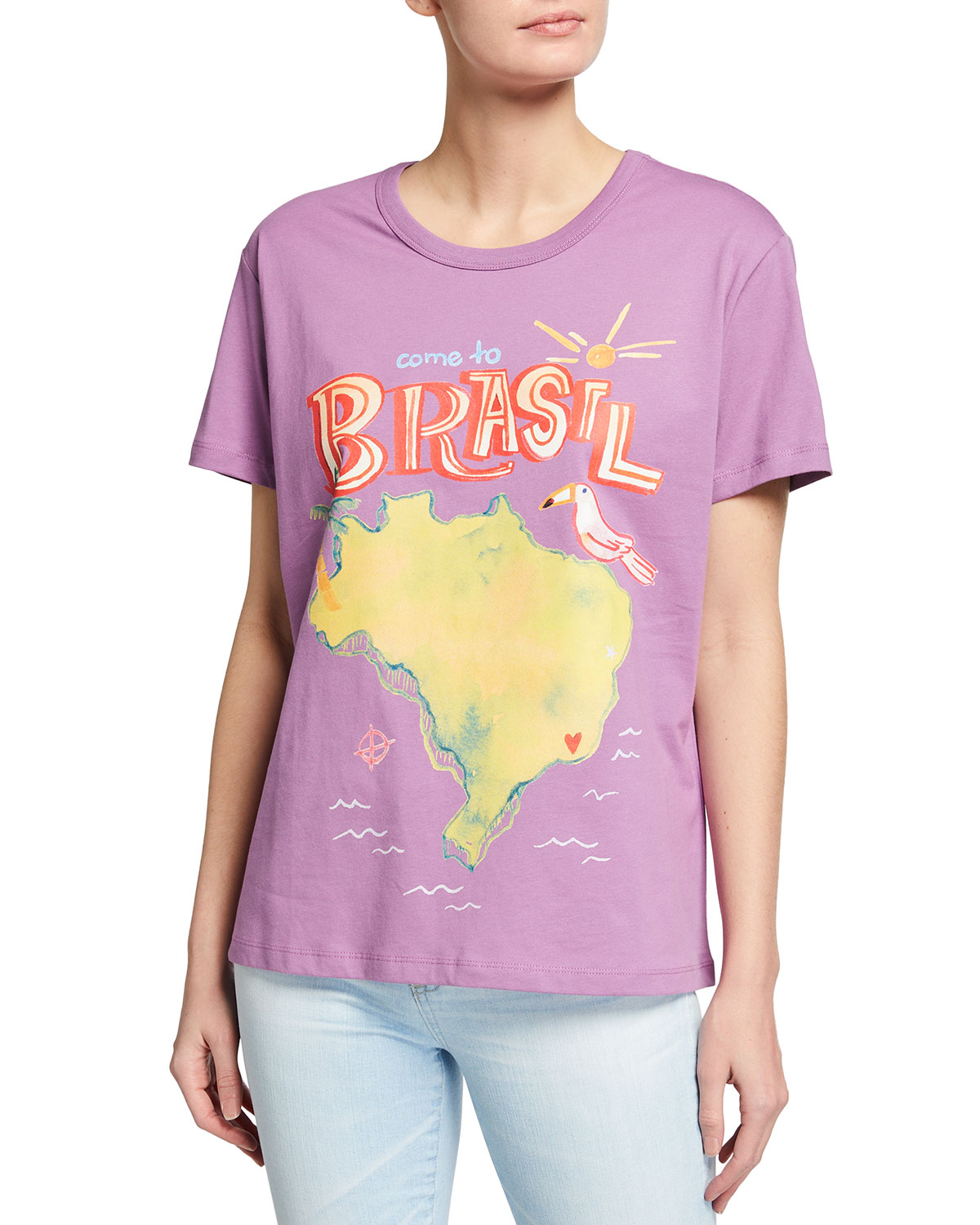 Farm Rio Cottons COME TO BRASIL GRAPHIC T-SHIRT