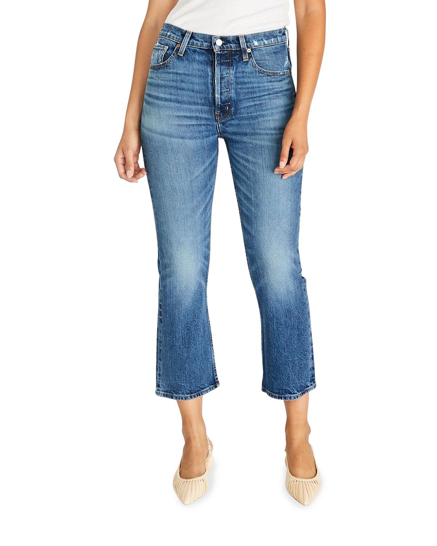 Josie Cropped Flare-Leg Jeans