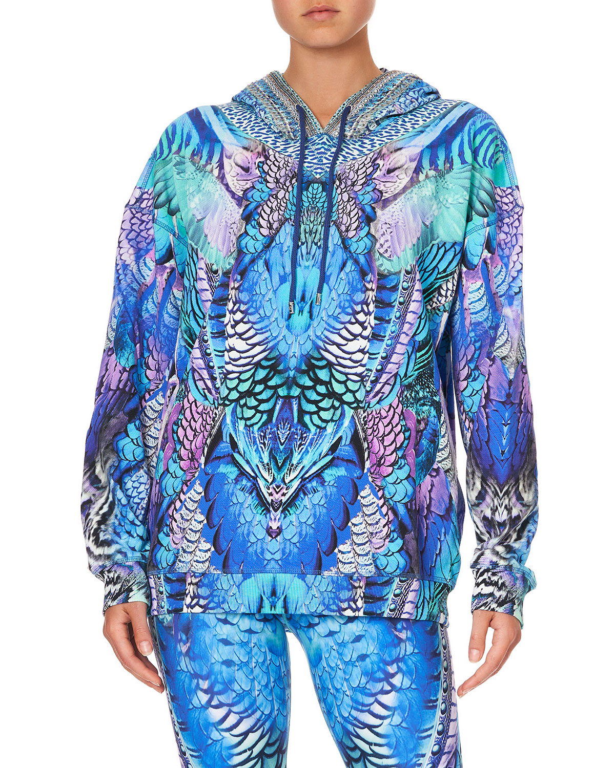 Camilla PRINTED ACTIVE HOODIE WITH POCKETS