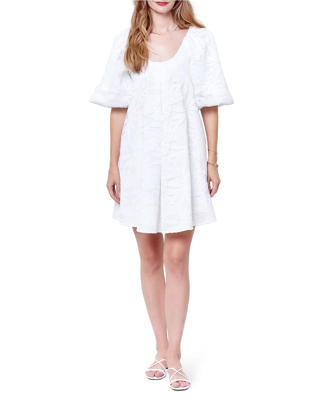 Hariette Lace Puff Raglan Dress