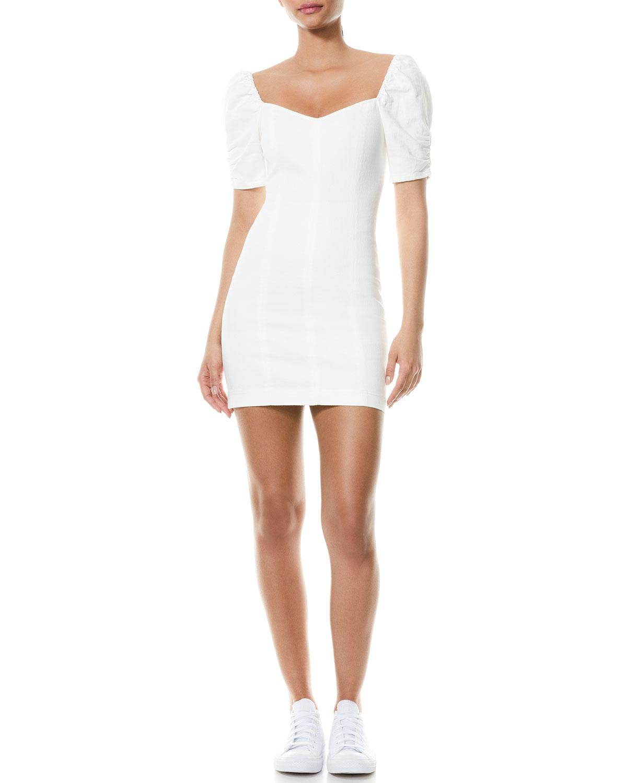 Mimi Puff-Sleeve Mini Dress