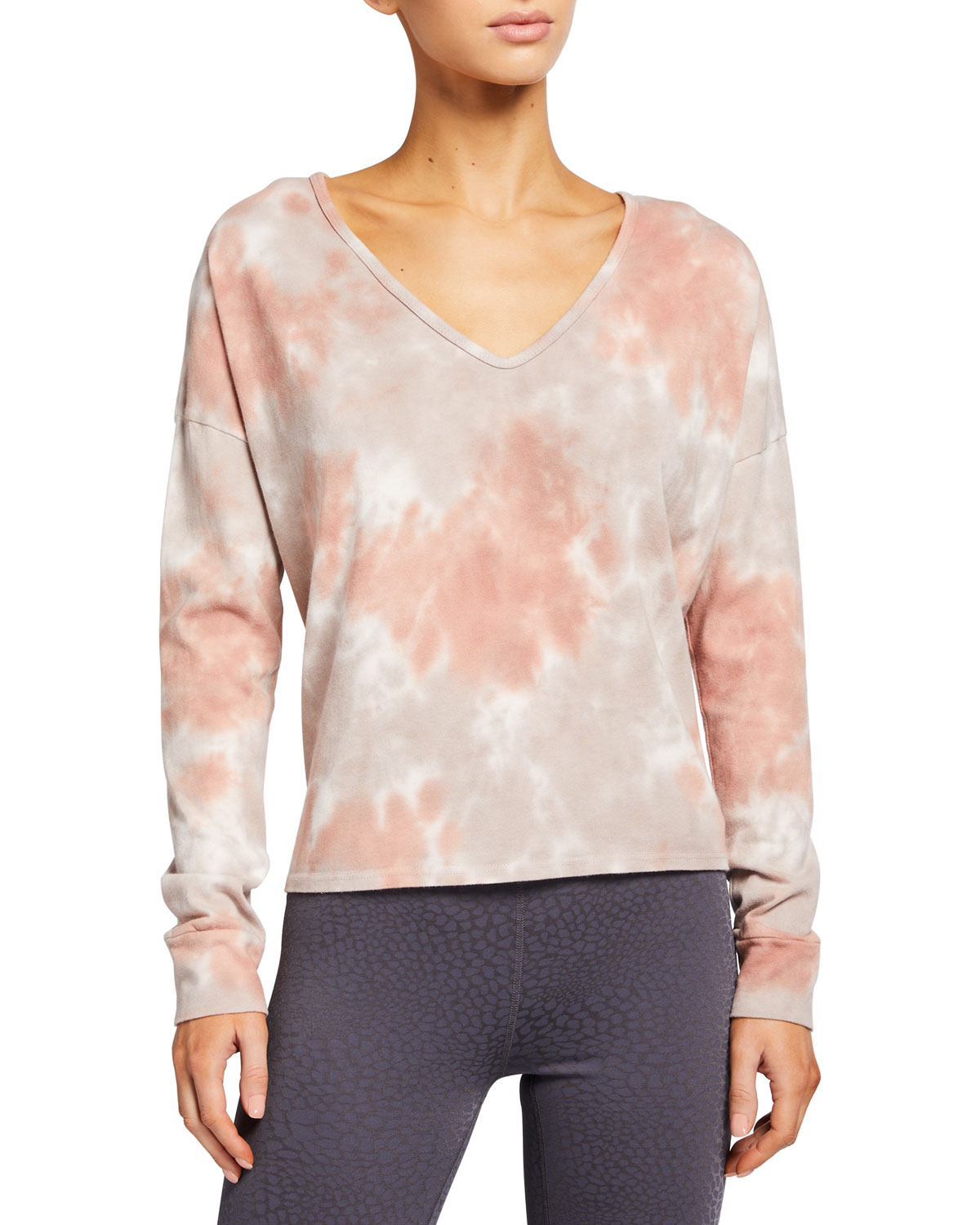 Beyond Yoga CLOUD DYE OPEN-NECK PULLOVER