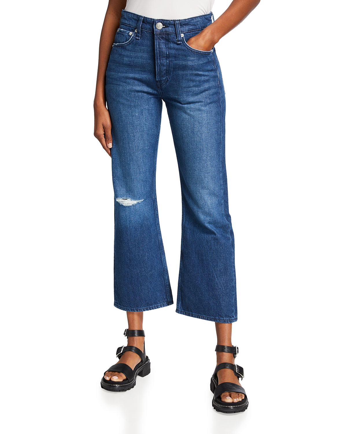 Rag & Bone MAYA HIGH-RISE CROPPED FLARE JEANS