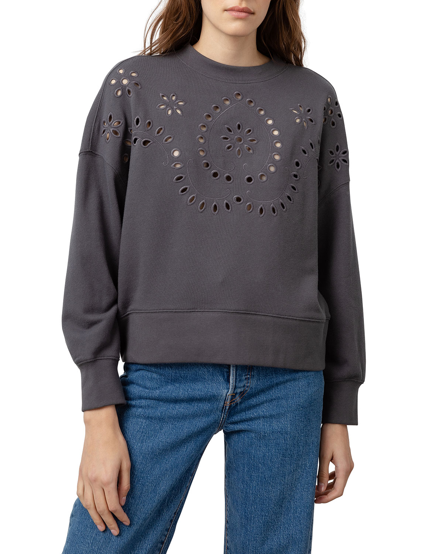 Rails Sweatshirts ALICE EYELET CREWNECK SWEATSHIRT