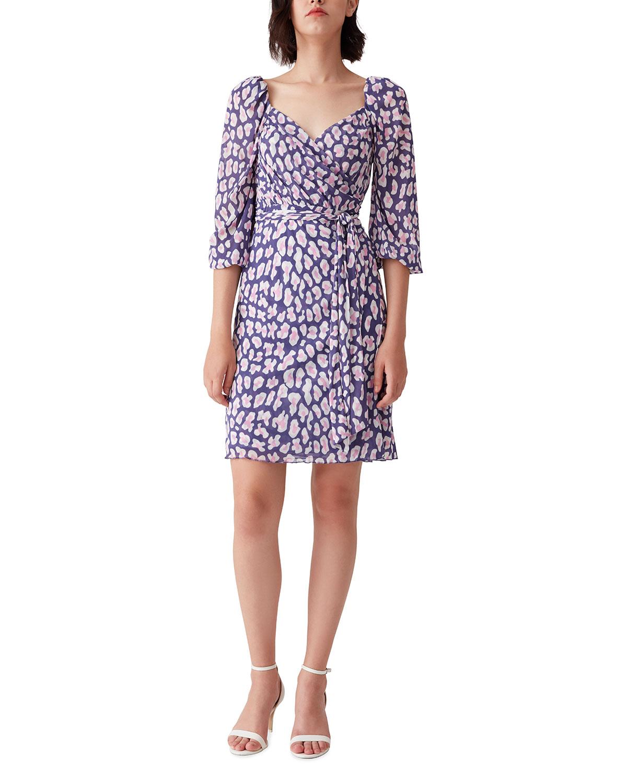 Diane Von Furstenberg ABBY SWEETHEART PRINTED WRAP DRESS