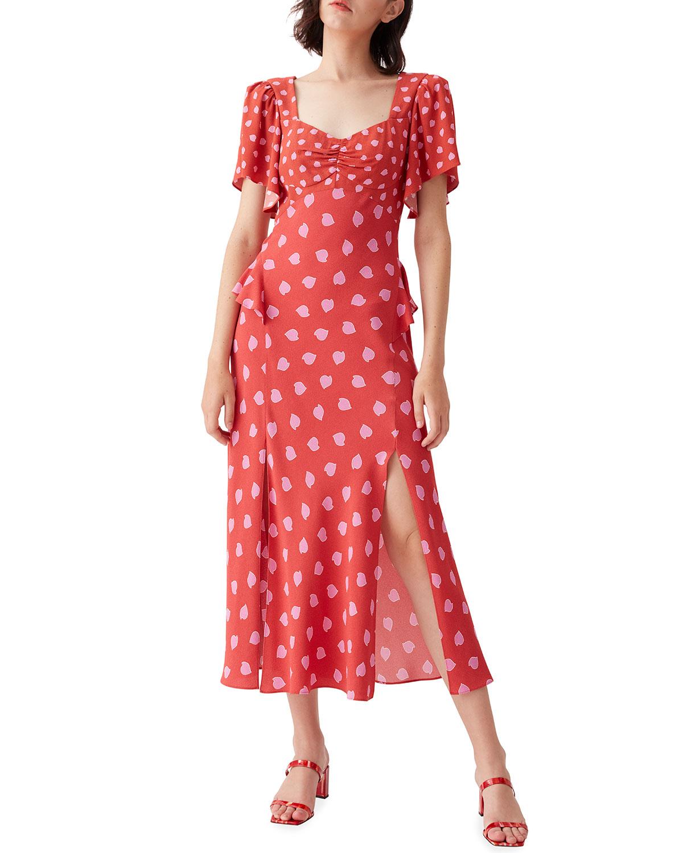 Aurora Crepe Midi Dress