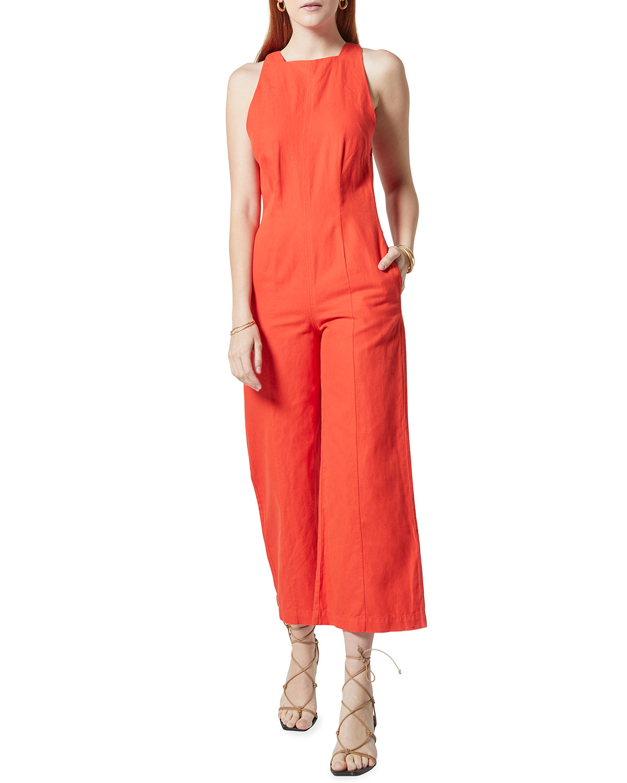 Klein Linen Wide-Leg Jumpsuit