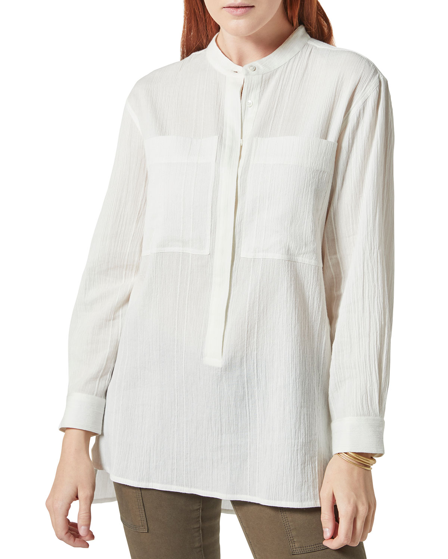 Gibson Button-Front Gauze Shirt