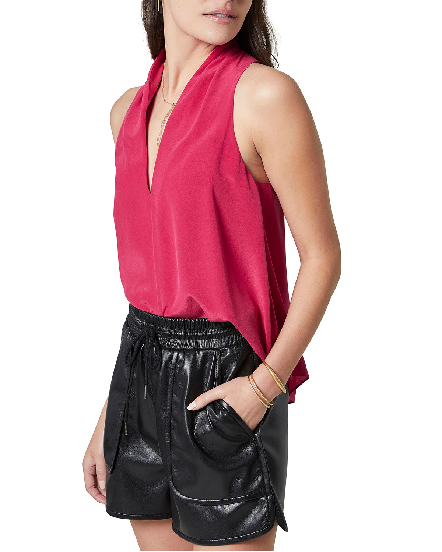 Ocana Silk V-Neck Sleeveless Top