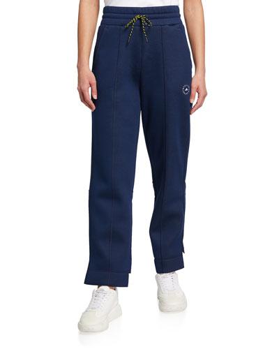 Stella Zippered pocket on right leg drawstring elastic waist cuffed bottom made from lightweight fabric
