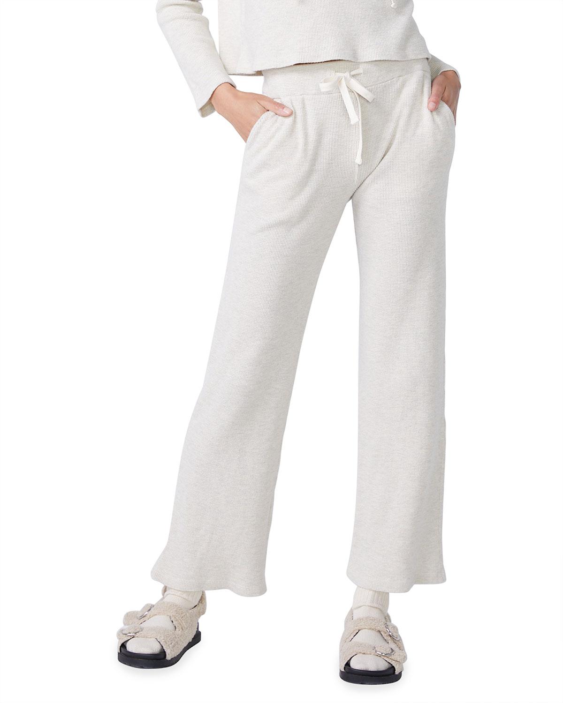 Brushed Thermal Wide-Leg Sweatpants