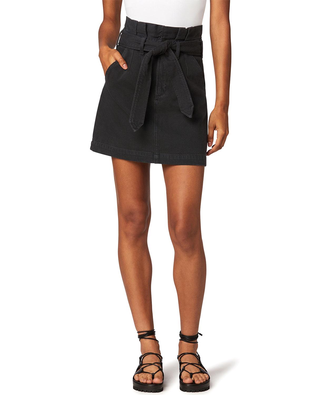 The Calypso Belted Denim Skirt