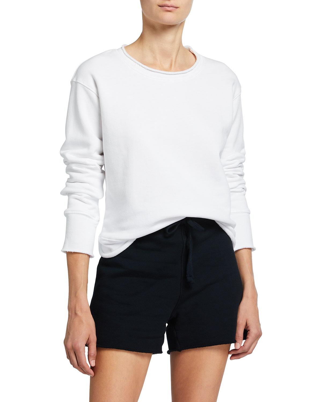 Boyfriend Cotton Crewneck Sweatshirt