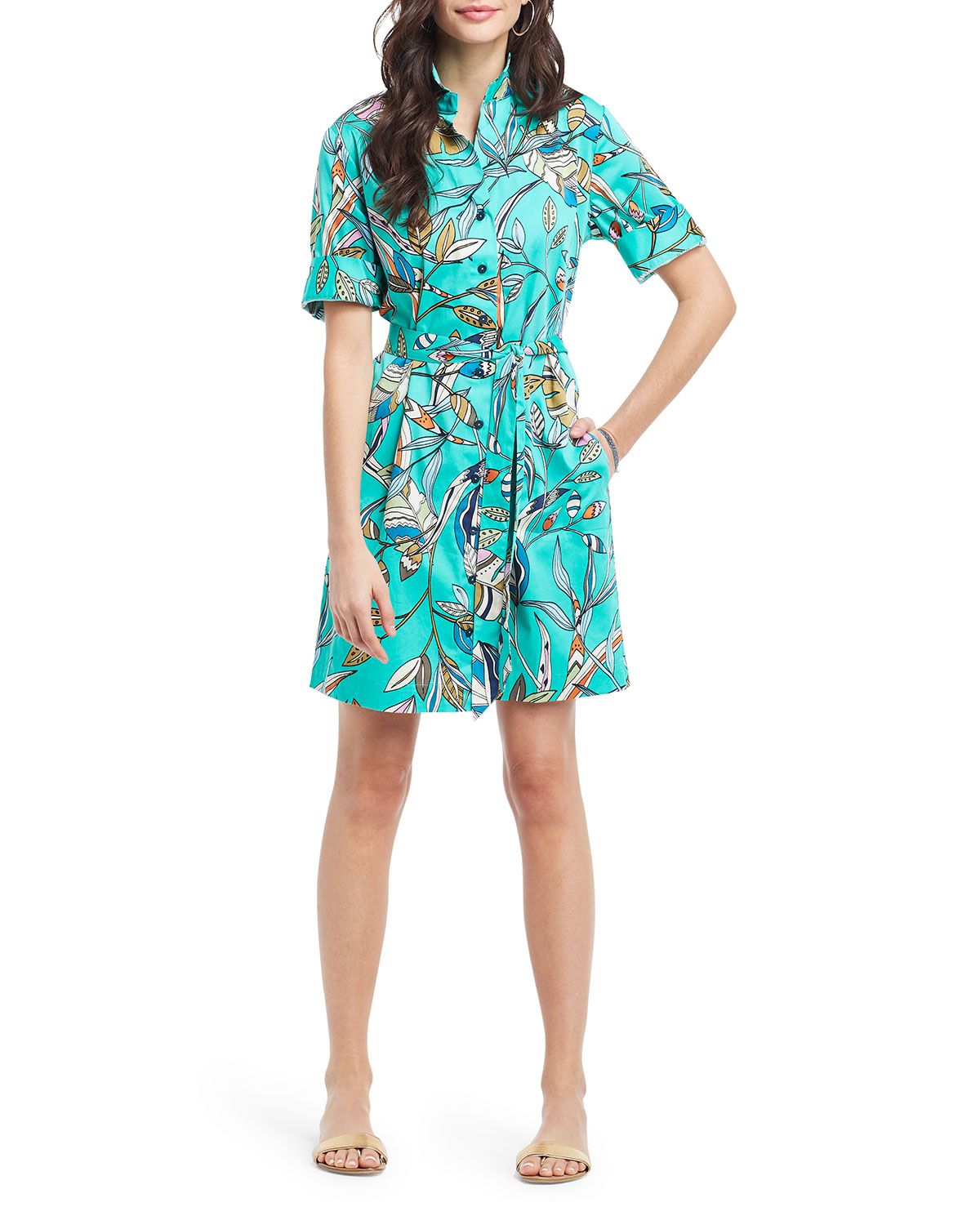 Nic + Zoe RIVERA BOTANICAL SHIRTDRESS