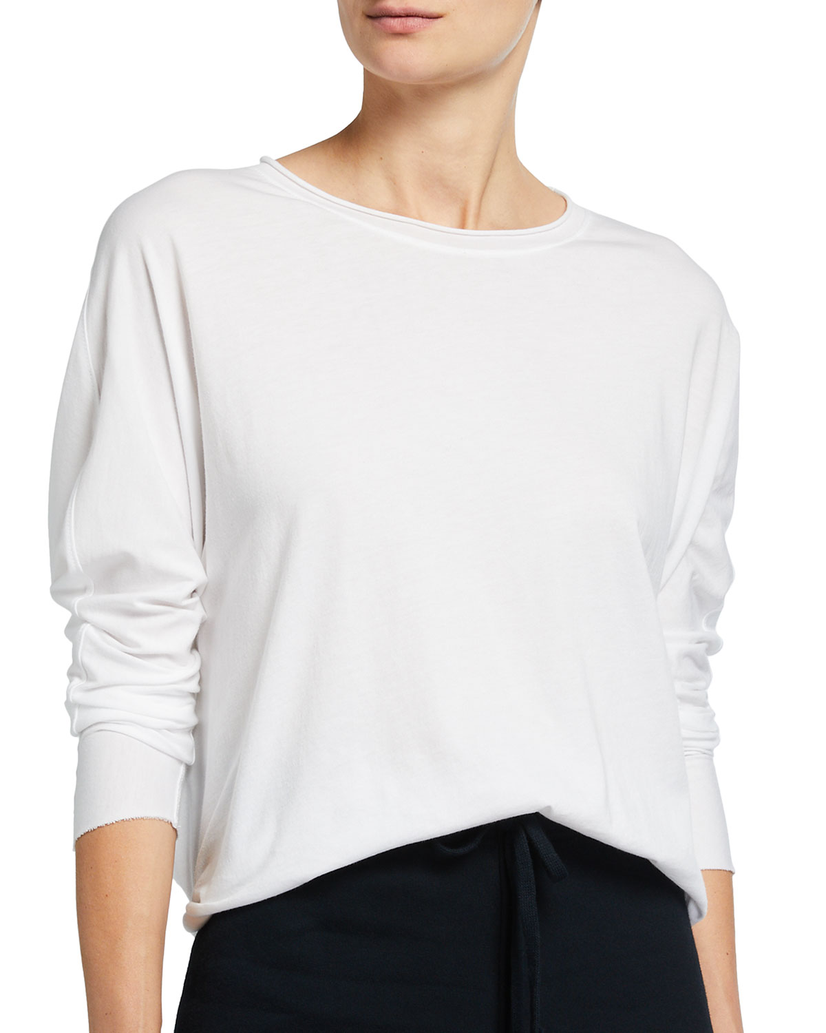 Long-Sleeve Capelet Top