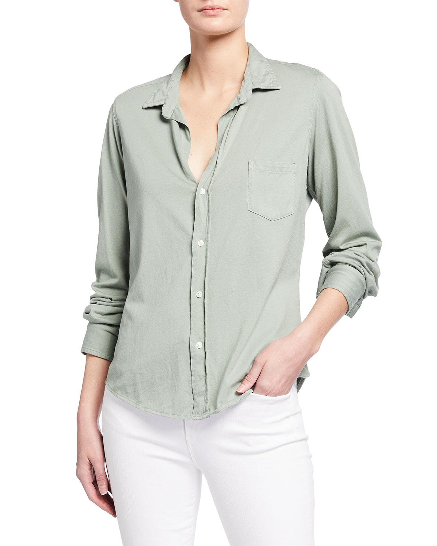 Barry Knit Button-Up Shirt