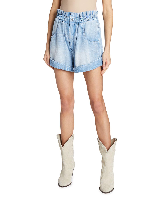Itea Paperbag Denim Shorts